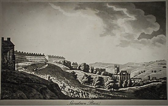 Lansdown Place by Archibald Robertson, print, late 18th century, at the Victoria Art Gallery, Bath. Permission given by the Victoria Art Gallery, Bath, and Bath & North East Somerset Council. http://art.bathnes.gov.uk/ow23/collections/index.xsp Collection number 1933.453